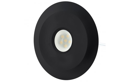 LED Step Lights - Black 70mm Metal Trimmed Mini Round Deck / Step Accent Light - 0.5 Watt - MRLF-6xW-BTB
