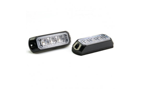 Vehicle LED Mini Strobe Light Head w/ Built-In Controller - 3 Watt