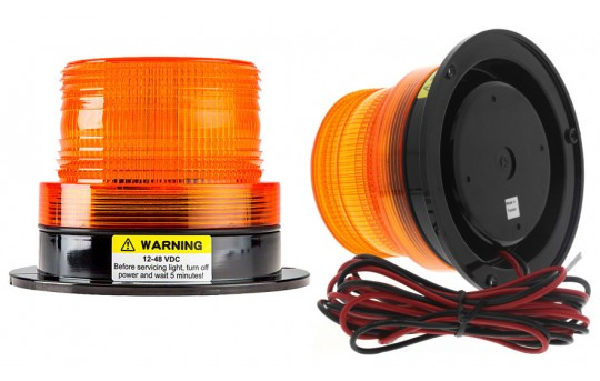 "3-3/4"" Amber LED Strobe Light Beacon - STB-A34"