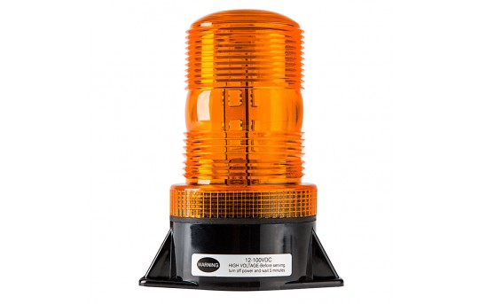 "5-1/4"" Amber LED Strobe Light Beacon with 10 LEDs - STB-A35"
