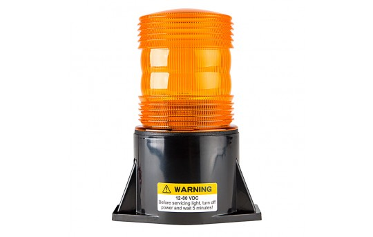 "5-1/2"" Amber LED Strobe Light Beacon with 1 x 3W High Power LED - STB-A36"