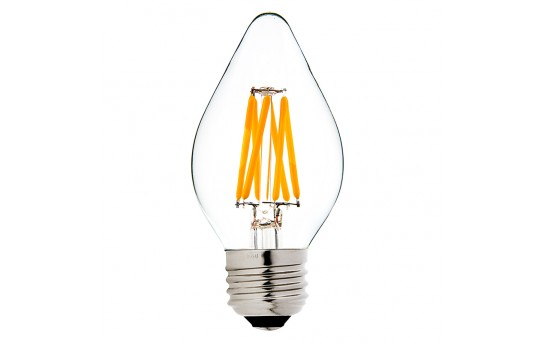F15 LED Filament Bulb - 40 Watt Equivalent LED Chandelier Bulb w/ Blunt Tip - Dimmable - 365 Lumens - F15D-x5DF