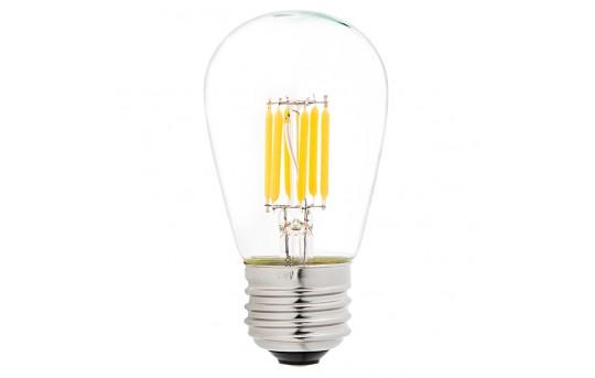 LED Vintage Light Bulb - S14 LED Sign Bulb w/ Filament LED - 40 Watt Equivalent - Dimmable - 338 Lumens - S14D-WW4DF