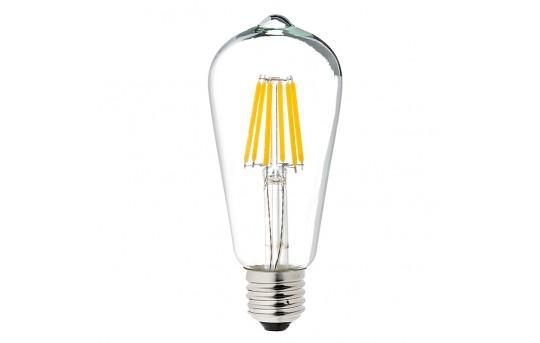 ST18 LED Filament Bulb - 40 Watt Equivalent Vintage Light Bulb - 12V DC - 350 Lumens - ST18-x5DF-12V