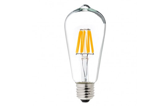 ST18 LED Filament Bulb - 60 Watt Equivalent LED Vintage Light Bulb - Dimmable - 700 Lumens - ST18D-x8DF