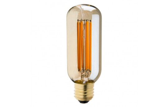 T14 LED Filament Bulb - 40 Watt Equivalent Vintage Light Bulb w/ Gold Tint - Radio Style - Dimmable - 435 Lumens - T14D-UW6GF