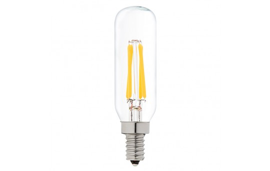 T8 LED Filament Bulb - 40 Watt Equivalent Candelabra LED Vintage Light Bulb - Radio Style - Dimmable - 370 Lumens - T8D-WW4DF-E12
