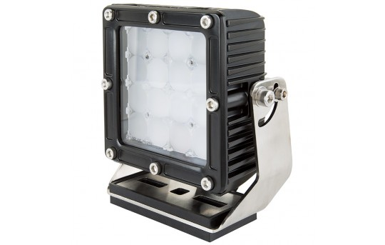 """Heavy-Duty LED Work Light w/ Extreme Vibration Resistant Mount - 5.5"""" Square - 55W - 5,600 Lumens - WLVM-80W-S36"""