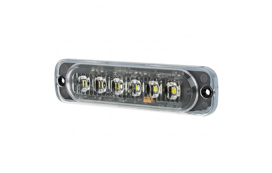 Low Profile Vehicle LED Mini Strobe Light Head - Built-In Controller - 18 Watt - Surface Mount - P-STRB-1x18