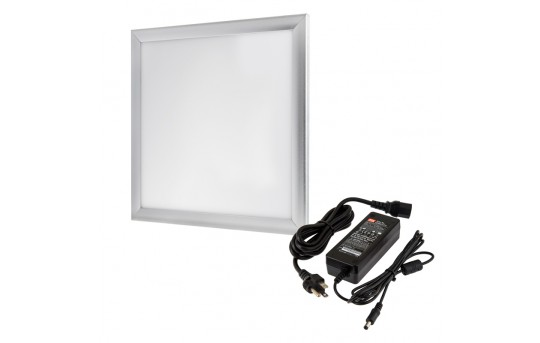 12V LED Panel Light High Voltage Kit - 1x1 - 2,500 Lumens - 35W Even-Glow® Light Fixture - Surface Mount - LP-NW3030-35-12V-HVK