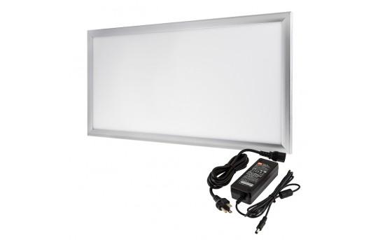 12V LED Panel Light High Voltage Kit - 1x2 - 3,000 Lumens - 40W Even-Glow® Light Fixture - Surface Mount - LP-NW6030-40-12V-HVK