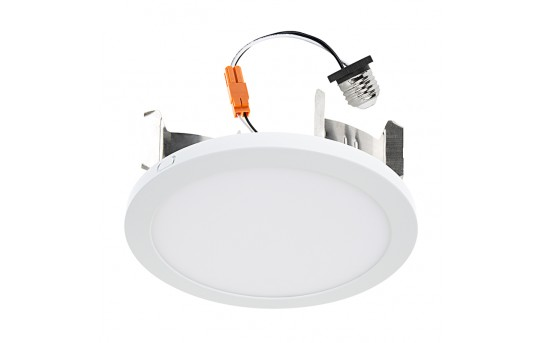 "7"" Slim LED Downlight for 4"", 5"", or 6"" Cans - Retrofit LED Recessed Lighting Kit - 75 Watt Equivalent - Dimmable - 1,000 Lumens - LPR-xK7-12-KIT"