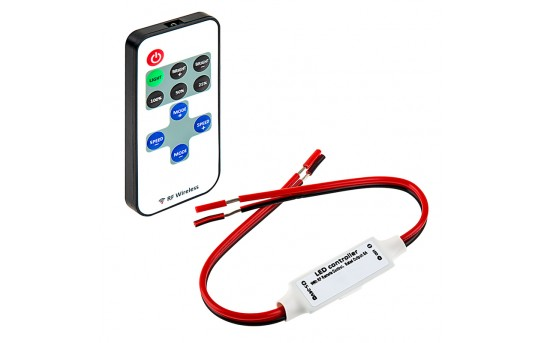 Single Color LED Controller with Dynamic Modes - RF Remote - MCBRF-4A