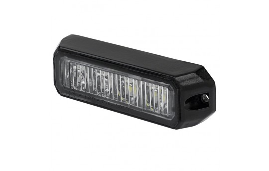 Two-Color Vehicle LED Mini Strobe Light Head - Built-In Controller - 12 Watt - Surface Mount - P-STRB-x12