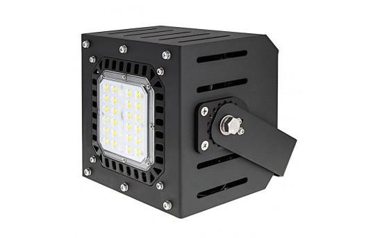 Modular LED Floodlight with U-Bracket - 50W - 5000K - 100 Watt MH Equivalent - 4,200 Lumens - MD-50W