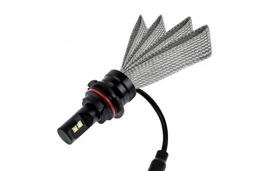 Motorcycle LED Headlight Conversion Kit - 9004 LED Headlight Bulb Conversion Kit with Flexible Tinned Copper Braid - 9004-HLV3-M