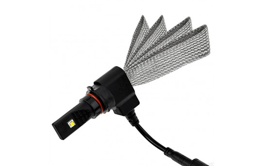 Motorcycle LED Headlight Conversion Kit - P13W LED Headlight Bulb Conversion Kit with Flexible Tinned Copper Braid - P13W-HLV3-M