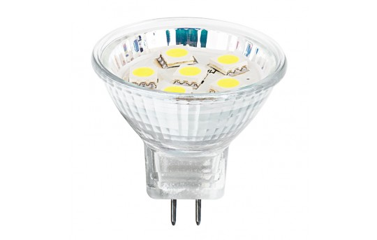 MR11 LED Boat and RV Light Bulb - 15 Watt Equivalent - Bi-Pin LED Flood Light Bulb - 130 Lumens - MR11-xHP6-RVB