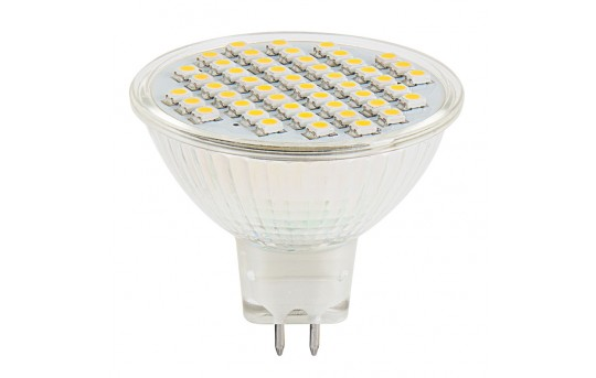 MR16 LED Boat and RV Light Bulb - 40 Watt Equivalent - LED Flood Light Bi-Pin Bulb - 300 Lumens - MR16-x48SMD-RVB
