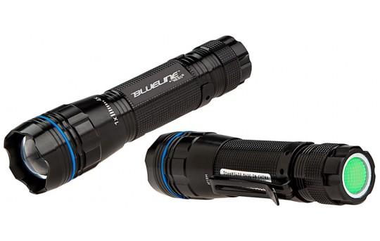 5602 NEBO BLUELINE LED Flashlight with Variable Focus Zoom Lens - #5602