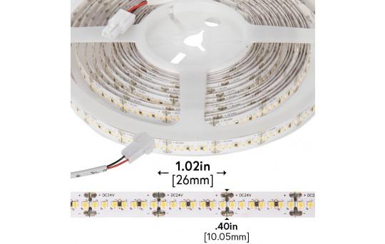 High CRI LED Strip Light - 24V LED Tape Light w/ LC2 Connector - High Density - 513 Lumens/ft. - NFLS-xH1330-24V-LC2