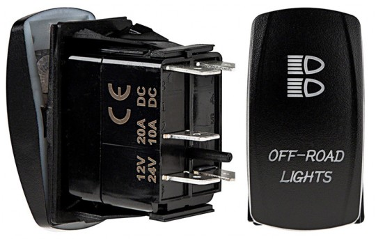 Weatherproof LED Rocker Switch - Off-Road Lights Switch - RS-1