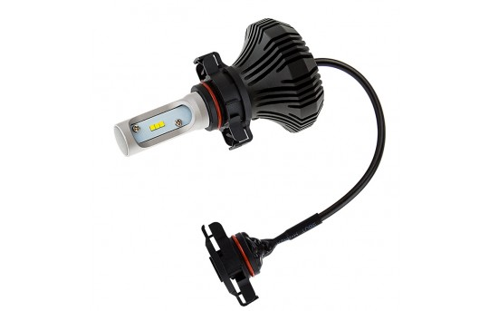 Motorcycle LED Headlight Conversion Kit - PSX24W LED Fanless Headlight Conversion Kit with Compact Heat Sink - PSX24W-HLV4-M