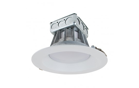 """8"""" Recessed LED Downlight w/ Built-In Junction Box and Baffle Trim - 190 Watt Equivalent - Dimmable - 1,900 Lumens - RLF8D-x30-JB"""