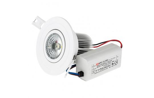 LED Recessed Light Fixture w/ Multifaceted Lens - 60 Watt Equivalent - 530 Lumens - RLFA-x7W-x