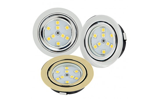 Recessed LED Puck Lights - 9 LED - 15 Watt Equivalent - 140 Lumens - RLF-x9SMD