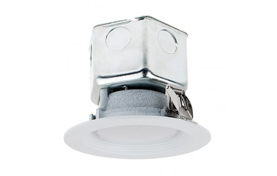 """4"""" Recessed LED Downlight w/ Built-In Junction Box and Baffle Trim - 60 Watt Equivalent - Dimmable - 650 Lumens - RLF4D-x10-JB"""