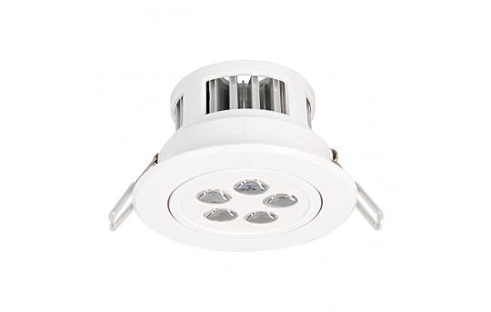 "LED Recessed Light Fixture - Aimable - 40 Watt Equivalent - 4.45"" - 380 Lumens - RLFAD-xW5W-P45"