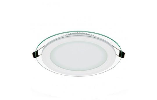 "6"" LED Recessed Light w/ Edge-Lit Glass - LED Downlight w/ Open Trim - 60 Watt Equivalent - 730 Lumens - RLFG-x12R"