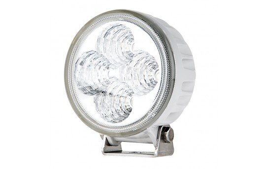 "LED Boat Light - 3.25"" Round With White Finish - 10W - 534 Lumens - WL-12W-R60W"