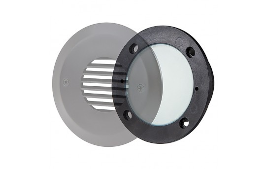 120V LED Step Lights - Window Round Step Accent Light with Faceplate - 88 Lumens - SLR-x2x-120V-Ox