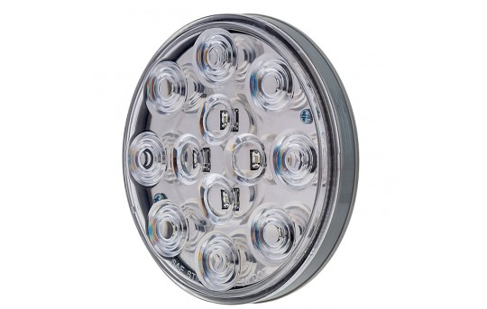 "Round LED Back-Up Truck and Trailer Lights - 4"" LED Reverse Lights w/ 12 High Flux LEDs - 3-Pin Connector - ST-W12"