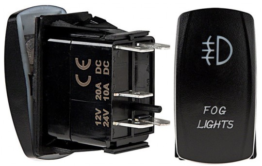 Weatherproof LED Rocker Switch - Fog Lights Switch - RS-15