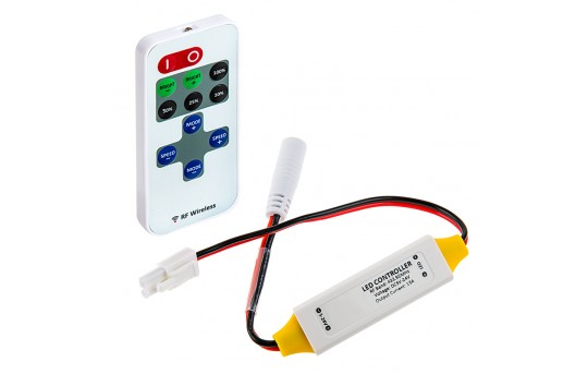 Single Color LED Controller w/ LC2 Connector - Wireless RF Remote w/ Dynamic Modes - MCBRF-15ALC2