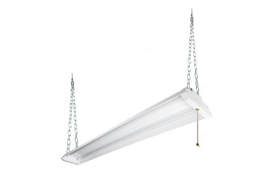 42W Linkable LED Shop Light/Garage Light w/ Pull Chain - 4' Long - 4,500 Lumens - 5000K - SLLP-x4-42