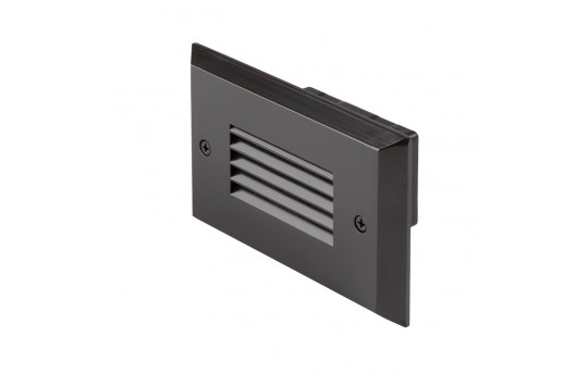 120V LED Step Lights - Louver Rectangular Step Accent Light with Faceplate - 35 Lumens - SLRE-x2x-120V-Hx