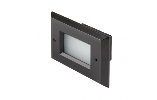 120V LED Step Lights - Window Rectangular Step Accent Light with Faceplate - 35 Lumens - SLRE-x2x-120V-Ox