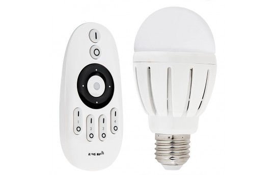 A19 LED Smartphone/Tablet Wi-Fi Light Bulb w/ RF Remote - Variable White - 60 Watt Equivalent - Dimmable - E27-VCT6-MZ