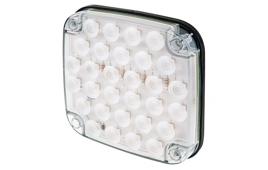 """Square LED Truck and Trailer Light - 6-1/2"""" LED Reverse Light w/ 30 High Flux LEDs - Pigtail Connector - SMRT-W30"""