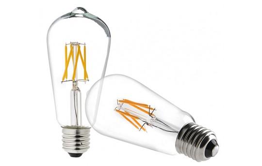 ST18 LED Filament Bulb - 40 Watt Equivalent Vintage Light Bulb - Dimmable - 537 Lumens - ST18D-x6DF