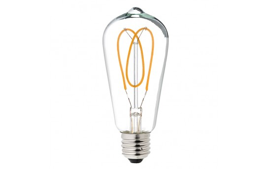 Flexible Filament LED Bulb - ST18 Carbon Filament Style Bulb - Dimmable 20 Watt Equivalent - Heart - 153 Lumens - ST18D-UW6DFW