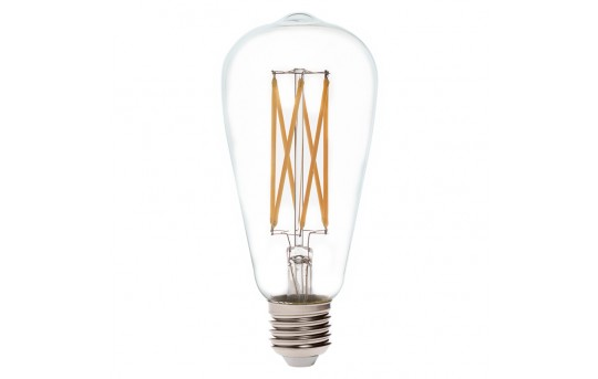 ST26/ST64 LED Filament Bulb - 60 Watt Equivalent LED Vintage Light Bulb - Dimmable - 650 Lumens - ST64D-WW6DF