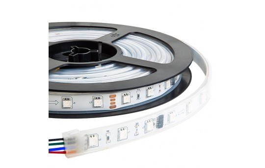 Outdoor RGB LED Strip Lights - Color Chasing 12V LED Tape Light - Waterproof - 37 Lumens/ft. - SWDC-RGB-240