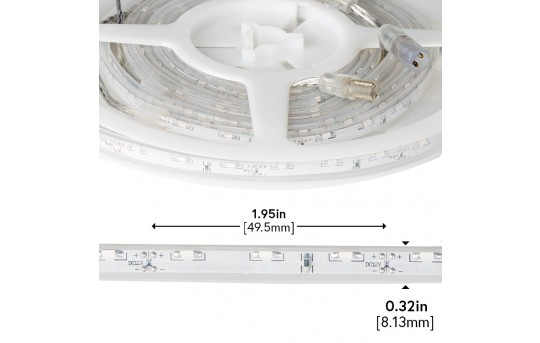 Waterproof Side Emitting LED Light Strips - Outdoor LED Tape Light with 18 SMDs/ft., 1 Chip SMD LED 335 - SWFLS-x60