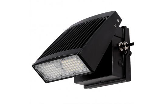 55W Slim LED Wall Pack - 6300 Lumens - Aimable/Full Cutoff - 250W Metal Halide Equivalent - 4000K - SWP-x55