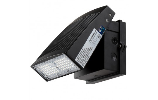 Slim Full Cutoff LED Wall Pack - Aimable - 55W (100W MH Equivalent) - 4000K - 6,300 Lumens - SWP-x55